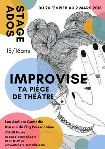 stage théâtre ados Ateliers Comedie
