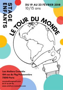 stage de theatre pour enfants ateliers comedie Paris